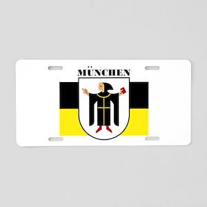 Munich (blk) Aluminum License Plate