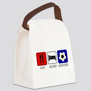 EAT SLEEP SOCCER Canvas Lunch Bag