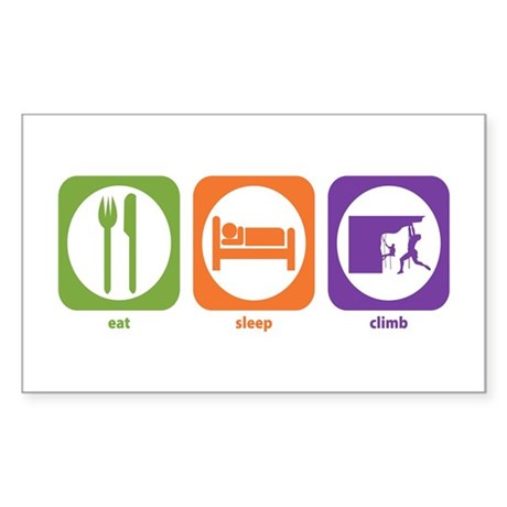 Eat Sleep Climb Rectangle Sticker