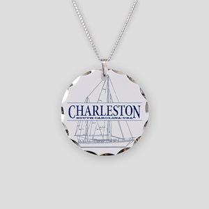Charleston SC - Necklace Circle Charm