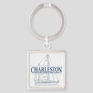 Charleston SC - Square Keychain