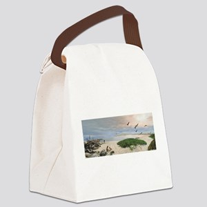 Half Moon Bay Painting Canvas Lunch Bag