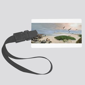 Half Moon Bay Painting Luggage Tag