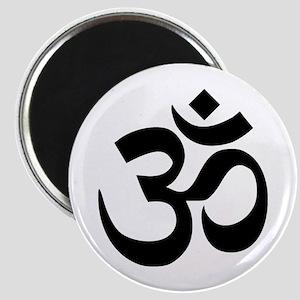 Black Om Symbol Magnets