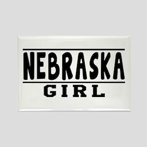Nebraska Girl Designs Rectangle Magnet