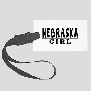 Nebraska Girl Designs Large Luggage Tag