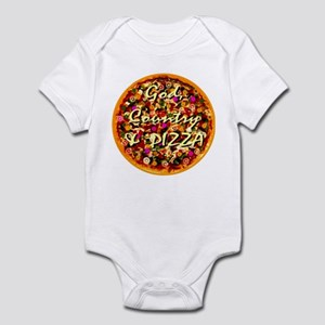 God, Country & Pizza Infant Bodysuit