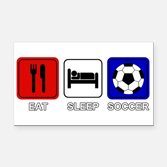 EAT SLEEP SOCCER Rectangle Car Magnet