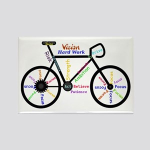 Bike made up of words to motivate Magnets