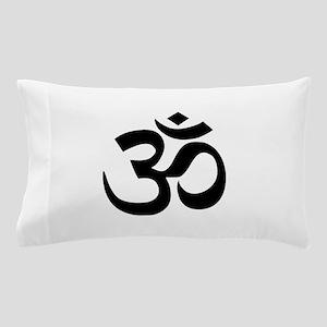 Black Om Symbol Pillow Case