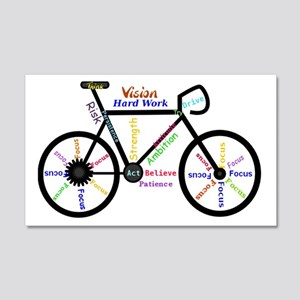 Bike made up of words to motivate Decal Wall Stick