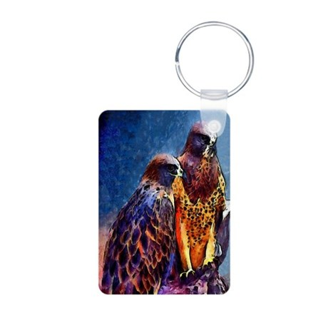 Hawks Aluminum Photo Keychain