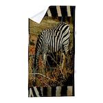 Zebra Safari Decor Beach Towel