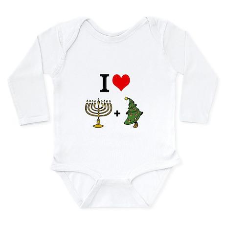 I Heart Hanukkah and Christmas Body Suit
