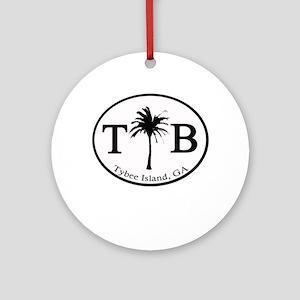 Tybee Island, GA Euro Sticker Ornament (Round)