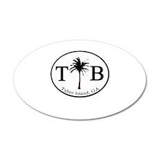 Tybee Island, GA Euro Sticker Wall Decal