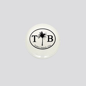 Tybee Island, GA Euro Sticker Mini Button