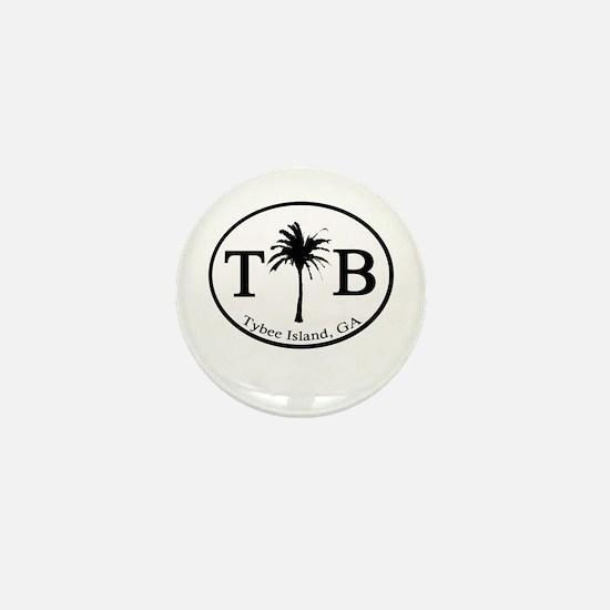 Tybee Island, GA Euro Sticker Mini Button