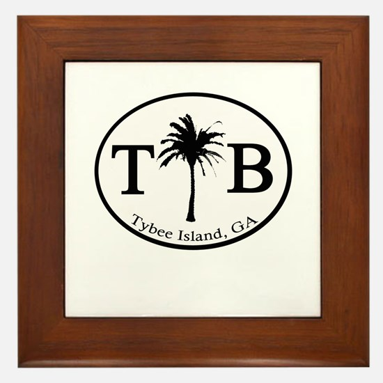 Tybee Island, GA Euro Sticker Framed Tile