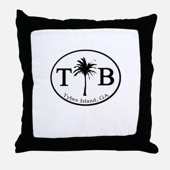 Tybee Island, GA Euro Sticker Throw Pillow