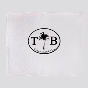 Tybee Island, GA Euro Sticker Throw Blanket