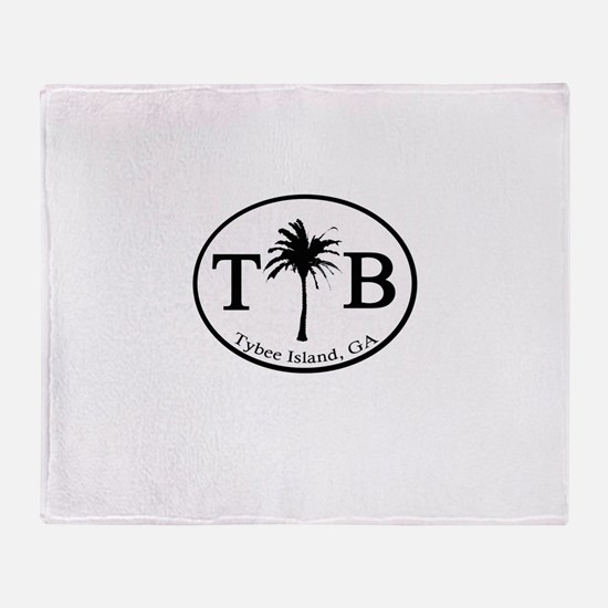 Tybee Island, GA Euro Sticker Throw Blanket