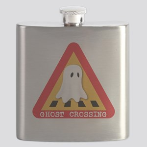 Cute Ghost Crossing Sign Flask