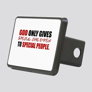 God Only Gives (Red) Rectangular Hitch Cover