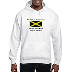 Married To A Jamaican Hooded Sweatshirt