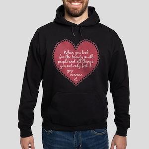 Inspirational Beauty Quote Hoodie (dark)
