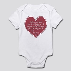 Inspirational Beauty Quote Infant Bodysuit