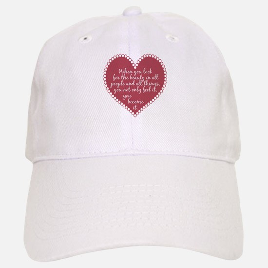 Inspirational Beauty Quote Baseball Baseball Cap