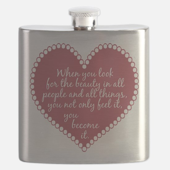 Inspirational Beauty Quote Flask