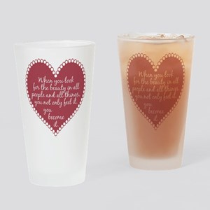 Inspirational Beauty Quote Drinking Glass