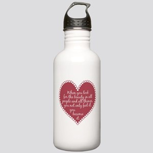 Inspirational Beauty Quote Stainless Water Bottle