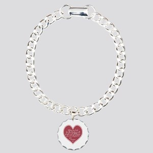 Inspirational Beauty Quote Charm Bracelet, One Cha