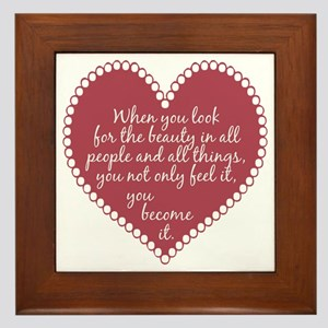 Inspirational Beauty Quote Framed Tile