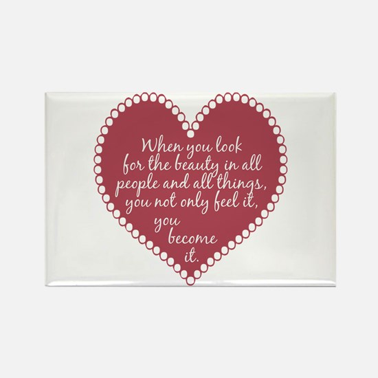 Inspirational Beauty Quote Rectangle Magnet