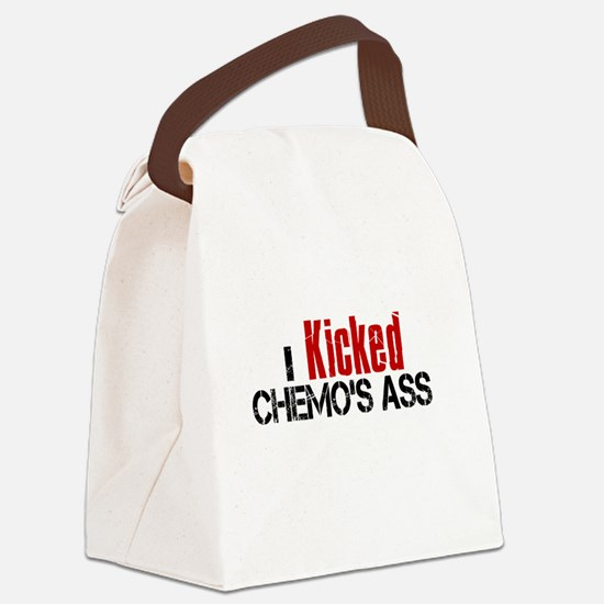 I Kicked Chemo's Ass Canvas Lunch Bag
