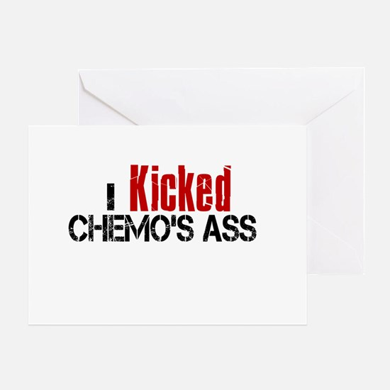 I Kicked Chemo's Ass Greeting Card