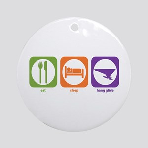Eat Sleep Hang Glide Ornament (Round)