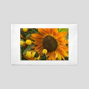 Orange Sunflower 3'x5' Area Rug