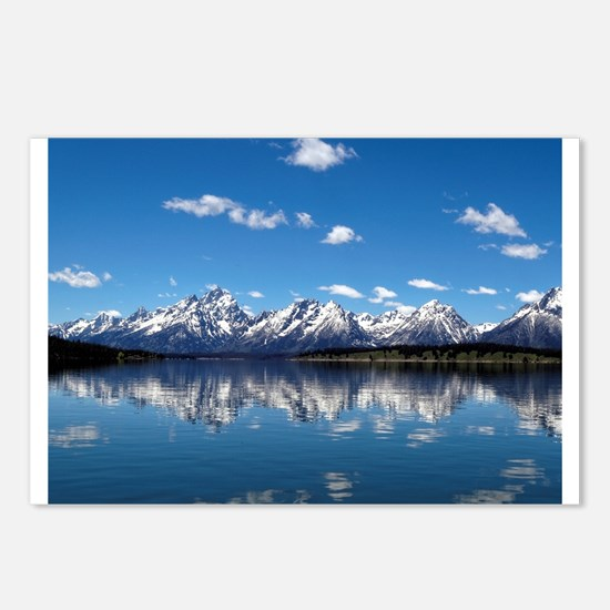GRAND TETON - JACKSON LAKE Postcards (Package of 8