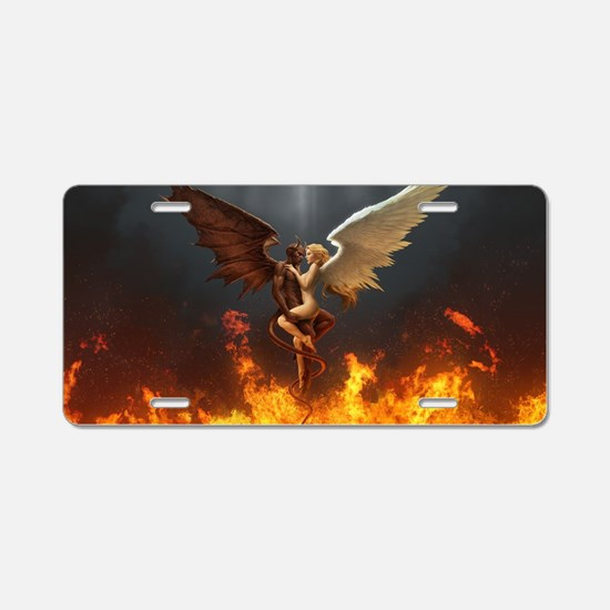 Angel and demon Aluminum License Plate