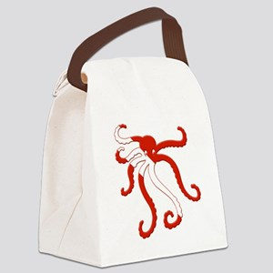 Octopus Diver Canvas Lunch Bag