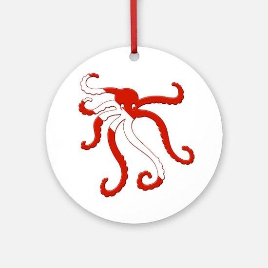 Octopus Diver Ornament (Round)