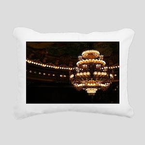 Opera Garnier Chandelier Rectangular Canvas Pillow