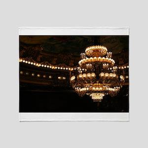 Opera Garnier Chandelier Throw Blanket