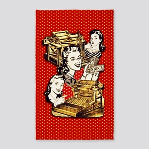 Quirky Office Gals 3'x5' Area Rug
