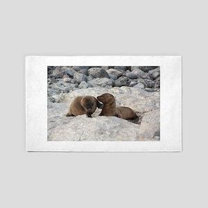 Baby Sea Lions Galapagos 3'x5' Area Rug